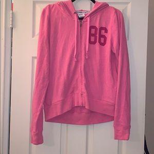 Victoria Secret Pink ZIP Up Medium Sweatshirt